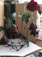 The Black Rose Crown (near complete) by BlackheartChimera13