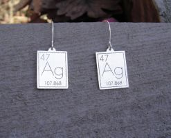 Atomic Silver Earrings by nicholasandfelice