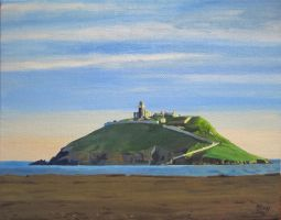 Ballycotton Island on an April Evening by eastcorkpainter