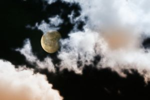 Moon with Clouds Stock by Nolamom3507