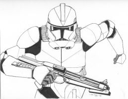 Stormtrooper line art by LauraInglis