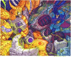 Unicron vs Primus by Ha-HeePrime