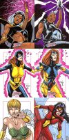 Marvel Dangerous Divas by Hachiman1