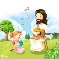 Jesus and Children 2 by CARFillustration