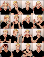 The Many Faces Of Reiner Braun by Reiner-X-Atashi