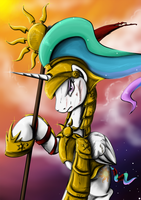 Fanart - MLP. Knight Celestia by jamescorck
