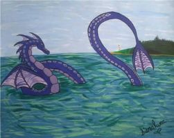 sea serpent by The-Siara-Moon