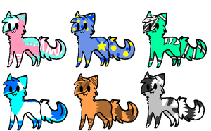 Adoptable batch 12 (CLOSED) by FireBladeFlame