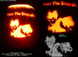 Vash the Stampede Pumpkin by FinnaJei