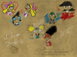 Hey Arnold Doodles by JB-Pawstep