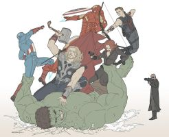 Avengers Disassemble by doubleleaf