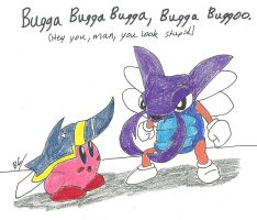 Bugzzy and Beetle Kirby by BlackCarrot1129
