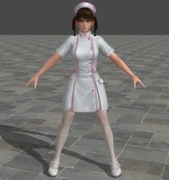Dead or Alive 5 Ultimate - Nurse - Lei Fang by Irokichigai01