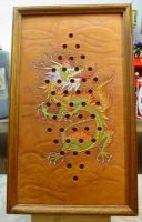 Chinese checkers with frame by larrysleather