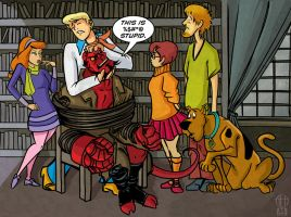 Hellboy VS Scooby Doo by Theamat