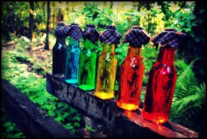 Rainbow Bottles IX by Isika