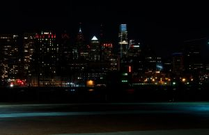 Philadelphia City Skyline Long Exposure 06 by FairieGoodMother