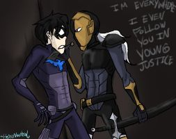 Deathstroke-Slade in Young Justice by HezuNeutral