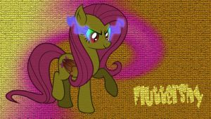 Corrupted Kindness Fluttershy Wallpaper by CKittyKat98