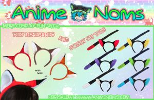NEW Fox Headbands and Cat Tails by AnimeNomNoms
