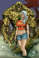 Swamp Thing colors by MARCIOABREU7