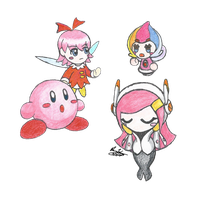 Kirby and friends by SuperCinnaMan