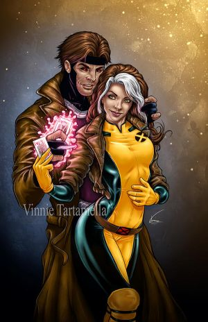Rogue Gambit color by VinRoc