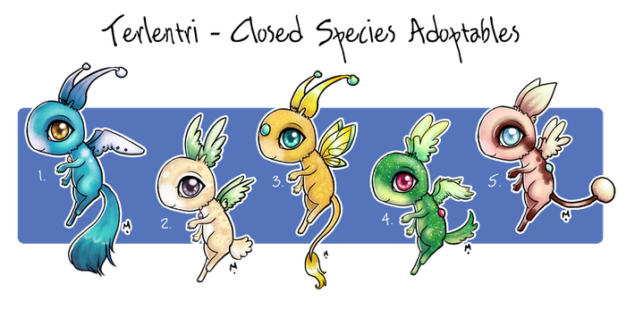 Open Terlentri Closed species Adoptables! by Meridot