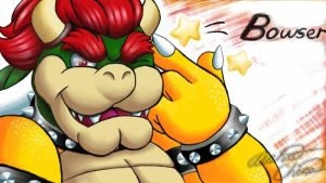 Just Bowser winking by Bowser2Queen