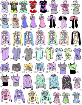 -CLOSED- Pastel goth shirts by Guppie-Vibes