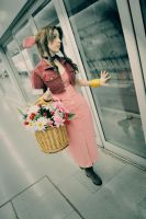 Aerith Gainsborough - Waiting... by Sora-Phantomhive