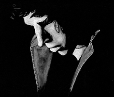 High Contrast Charcoal Study by AmbroseButtercrust
