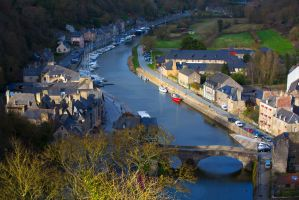View to canal of Dinan by olgaFI