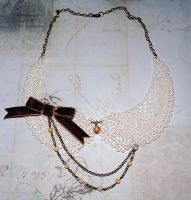 Lace Collar Necklace by OphanimGothique