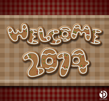 Welcome 2014 Wallpaper by YeshuDave029