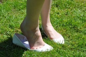 White Shoe Slip by Foxy-Feet