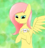 Fluttershy and Angel by SketchyStart