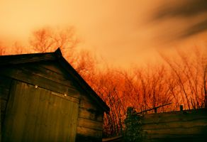 Wooden Warehouse in the middle of the Night by blueskyviewer94