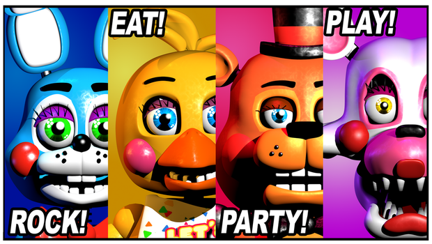 FNaF2 Prize Corner Poster Recreated by HeroGollum