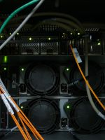Back of Server Room Equipement by dull-stock