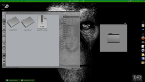 Leopard + Mac Look like icons in KDE by cahyadid79