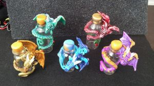 Little dragons with bottles by AstridMakosla
