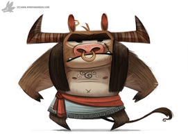 Day 870# - Minotaur by Cryptid-Creations
