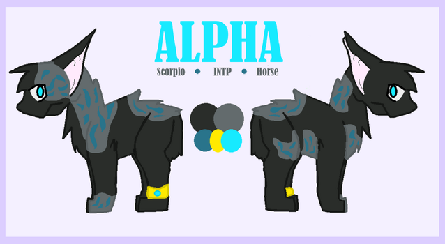 (Fursona Reference) Alpha *ALPHA IS NOT A HORSE* by Alphannel