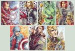 Avengers ACEO by Fiothin