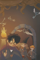 Harry Potter cover book by FantaFumino