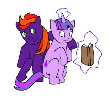 Fire Jade and Twilight Sparkle by pewdie-pinkiepie
