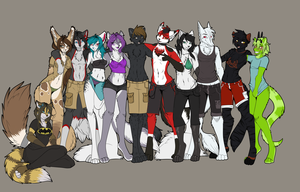 Furry pride project - Flats by l-Blair-l