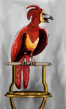 Fawkes, the Phoenix by Romi07