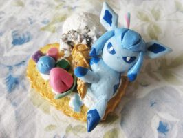 Glaceon Deco Sugar Cookie by KeoDear